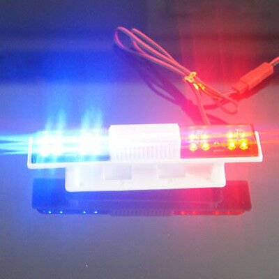 Model Car Police LED Rotation Flash Red+Blue For RC Redcat Racing Roof Light