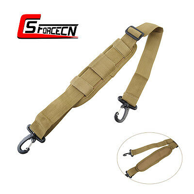 Airsoft Nylon Tactical Padded Shoulder Strap Sling Replacement for Bag Pouch Tan