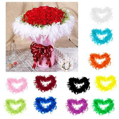 2M Feather Boa Stripe Fluffy Party Costume Fancy Dress Craft Party Wedding Decor