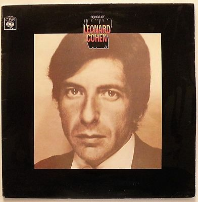 LEONARD COHEN 'Songs Of Leonard Cohen' (CBS 63241) Vinyl LP, UK 1967 - EX/VG