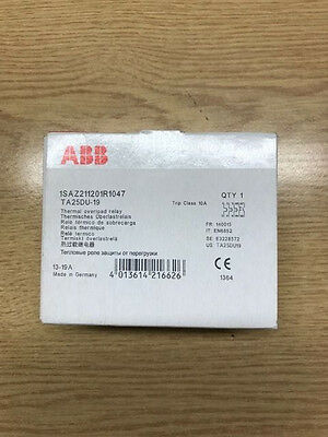 Abb Thermal Overload Relay 13-19A Ta25Du-19