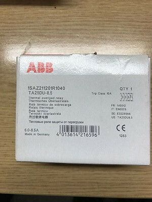 Abb Thermal Overload Relay 6.0-8.5A Ta25Du-8.5