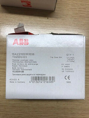 Abb Thermal Overload Relay 4.5-6.5A Ta25Du-6.5