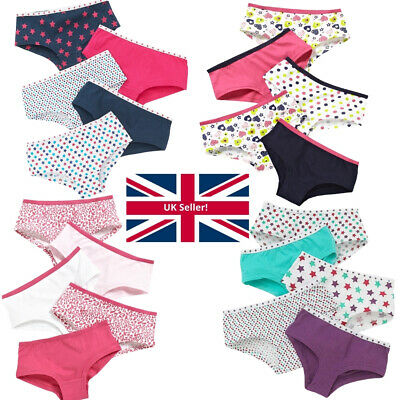 Girls Just Essentials Multipack of 5 Briefs Pants Knickers Hipster Shorts School