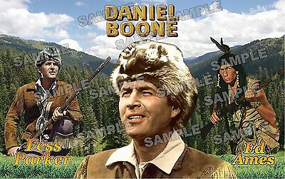 DANIEL BOONE TV series Fan Made Poster print 11 X 17 Fess Parker