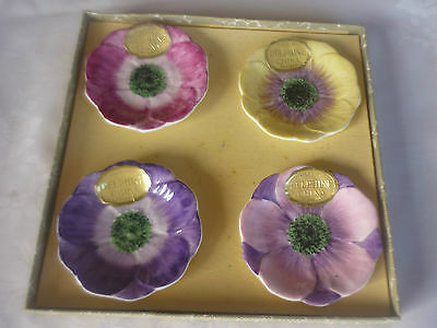 Vintage DELPHINE BONE CHINA Hand Painted plates boxed