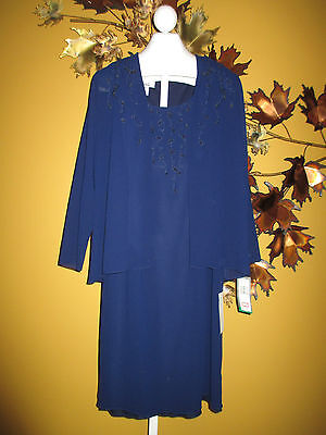 NWT  $180 Patra Navy Blue Evening Mother of the Bride Dress   10    65518