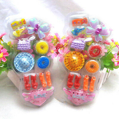 Best Blister Toy for Barbie Doll Accessories Shoes Hair Clips Bag Kids 4EV