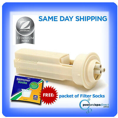 Genuine Zodiac Clearwater LM3-24 Chlorinator Replacement Cell +Free Filter Socks