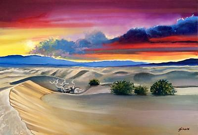 Peaceful Desert Limited Edition A3 Print Of Original Oil Painting