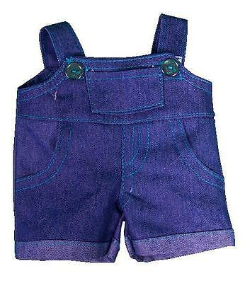 """8"""" Blue Denim Dungarees Overalls Teddy Clothes Fits 8""""-10"""" (20Cm) Teddy Bears"""