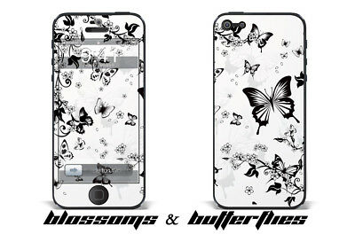247 Skin iPhone 5 Blossoms and Butterflies Phone Wrap Decal Sticker Wrap
