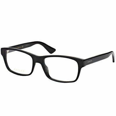 a137939c011 NEW AUTHENTIC GUCCI GG0007O 003 Ruthenium Metal Rectangle Eyeglasses ...