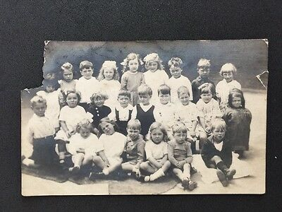 Vintage Postcard: Real Photo: Old School Class Photograph #A34