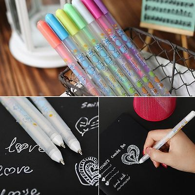 1PC/1 Set Learning Office Writing White/Colorful Ink Gel Pens Stationery