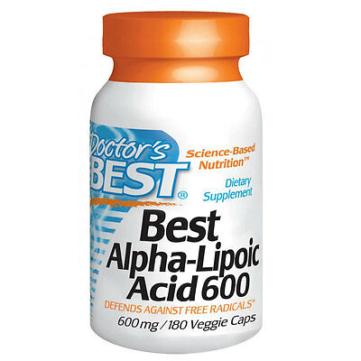 Doctors Best Alpha-Lipoic Acid - 180 - 600mg Vcaps - Universal Antioxidant