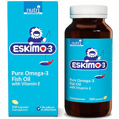 Eskimo-3 Pure Omega-3 Fish Oil with Vitamin E - 250 Capsules