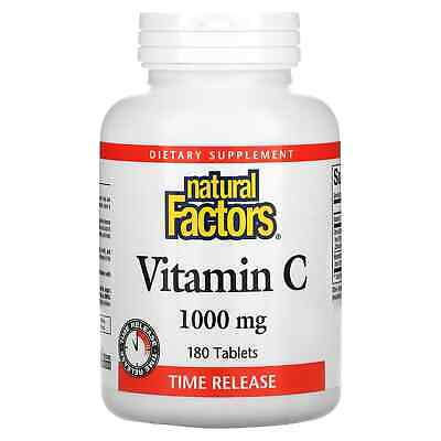 Vitamin C - 180 - 1000mg Time Release Tablets by Natural Factors - Antioxidant