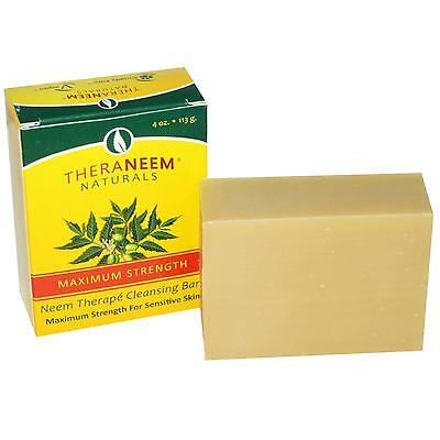 Neem Therapy Cleansing Bar - 113g by TheraNeem Organix - Soap for Sensitive Skin