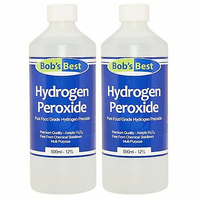 Food Grade Hydrogen Peroxide - 12% Solution - 1000ml - from Bob's Best