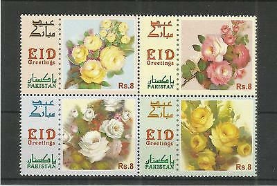 Pakistan 2012 Roses Sg,1453-1456 Un/mm Nh Lot 3066A