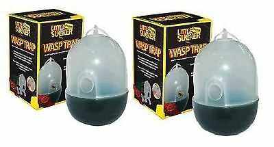 2 X Hanging Wasp Trap Garden Hanging Wasp Trap NO ESCAPE NO POISON SAFE