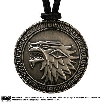 Game Of Thrones Stark Shield Pendant Halskette mit Anhänger NOBLE COLLECTIONS