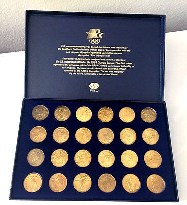 *** Collectible Set Of 24 Gold Coins From The 23Rd Olympics In Los Angeles 1984