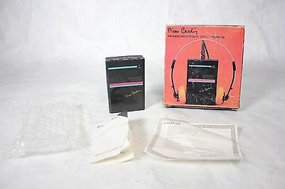 Vintage Pierre Cardin Environment Handheld FM Radio Receiver w/ Box and Manual!