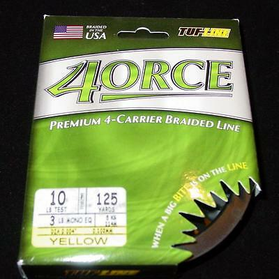 Hi Vis Yellow Tuf-Line 4ORCE Braided Line 4-Carrier 50lb 300yd
