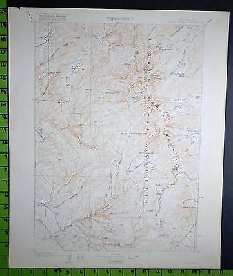 Big Horn National Forest Wyoming 1917 Antique USGS Map 16x20 Inches