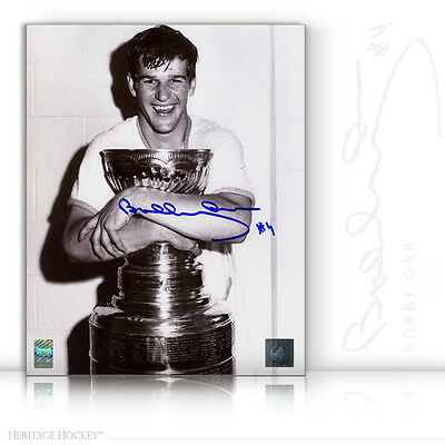 Bobby Orr Autographed Signed Stanley Cup Champion 8X10 Photo - Boston Bruins