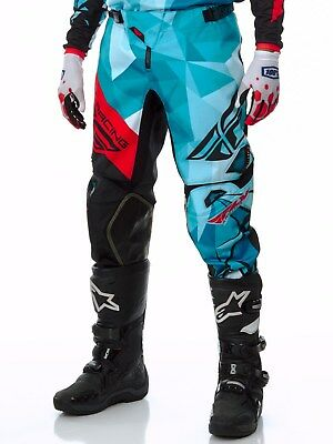Fly Racing Teal-Black-Red 2017 Kinetic Crux MX Pant