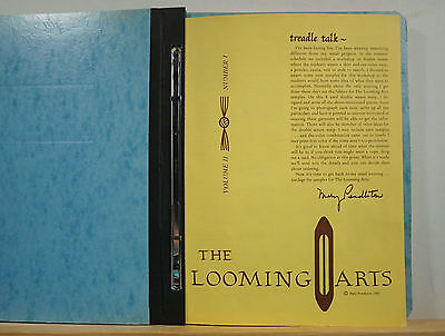The Looming Arts Vols 11 & 12 1980 10 Issues Pendleton Weaving Patterns