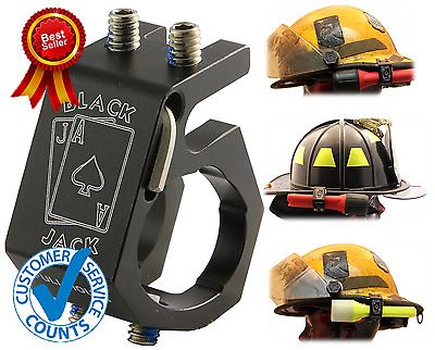 Lightweight Firefighter Aluminum Helmet Flashlight Mount Versatile Holder l NEW