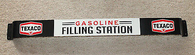 TEXACO Gasoline Filling Station Screen Door Push Pull Bar Embossed Metal Sign