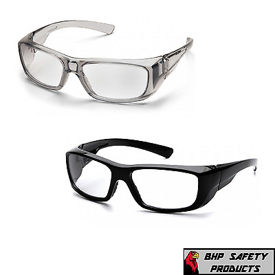 Pyramex Emerge Full Magnifying Reader Safety Glasses Gray Or Black Frames Z87+