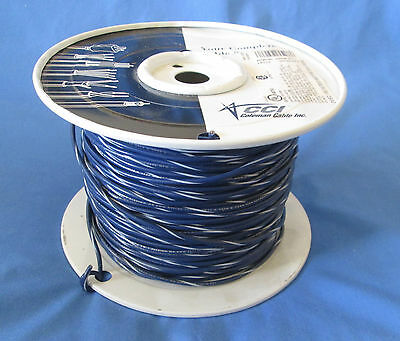 18 Gauge MTW/TEW Stranded Copper Wire Blue White Stripe Partial Roll 400'-450'