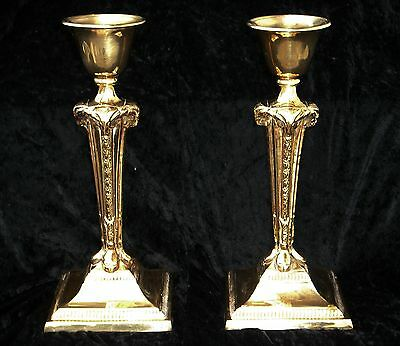 Antique Large Brass Ram Candlesticks Candle Holders -Wicca Pagan Occult Thelema