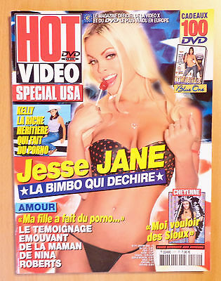 Hot Video N° 171 / French Magazine Revue Erotic / Jesse Jane , Kelly , Nina