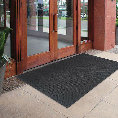 72 X 48 Oversized Commercial Rubber Door Mat Large Outdoor Doormat Floor Black