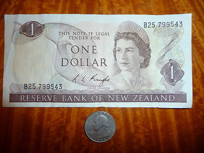 ***SALE**1 Dollar Bank Note from New Zealand 1967
