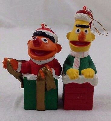 "Sesame Street Bert & Ernie Christmas Ornaments 3-4"" Holiday Decorations"