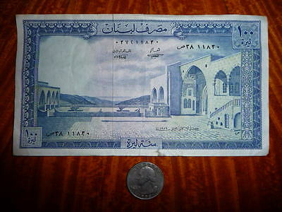 ***SALE**100 Livres Bank Note from Lebanon 1978