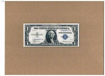 """1935 $1.00 Silver Certificate Plain""""double Date""""star Note~Crackly(Xf)&epq"""