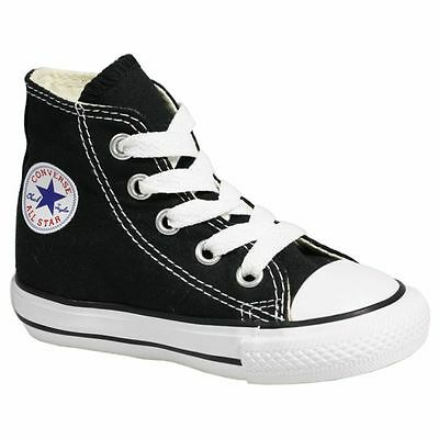 Converse Chuck Taylor All Star Hi Black White Canvas Toddler New in Box 7J231
