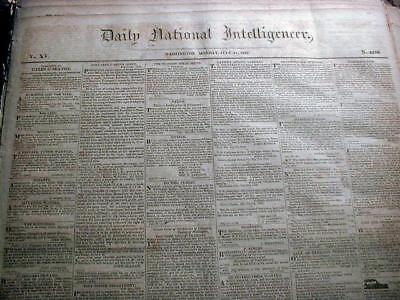 Pre Civil War / Early 19th Century Lot of 30 original US newspapers 1800-1860