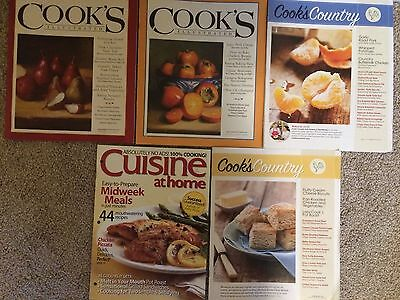 Lot of 5 Misc Cooking Magazines - Cook's & Cook Country Gourmet Magazines