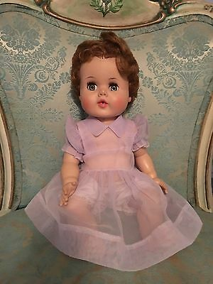 """Vintage 60s 17"""" American Character Doll Eyes Move Cries Wets Clothes Nice Cond."""