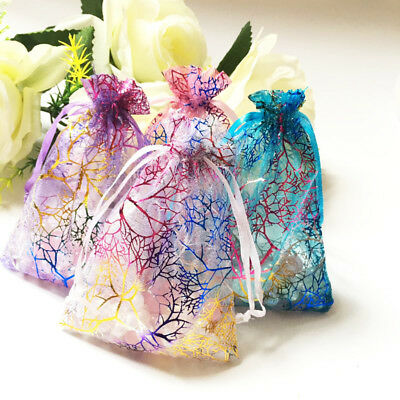 3x5 4x6 5x7 inch Coralline Organza Wedding Party Favor Gift Bags Jewelry Pouch